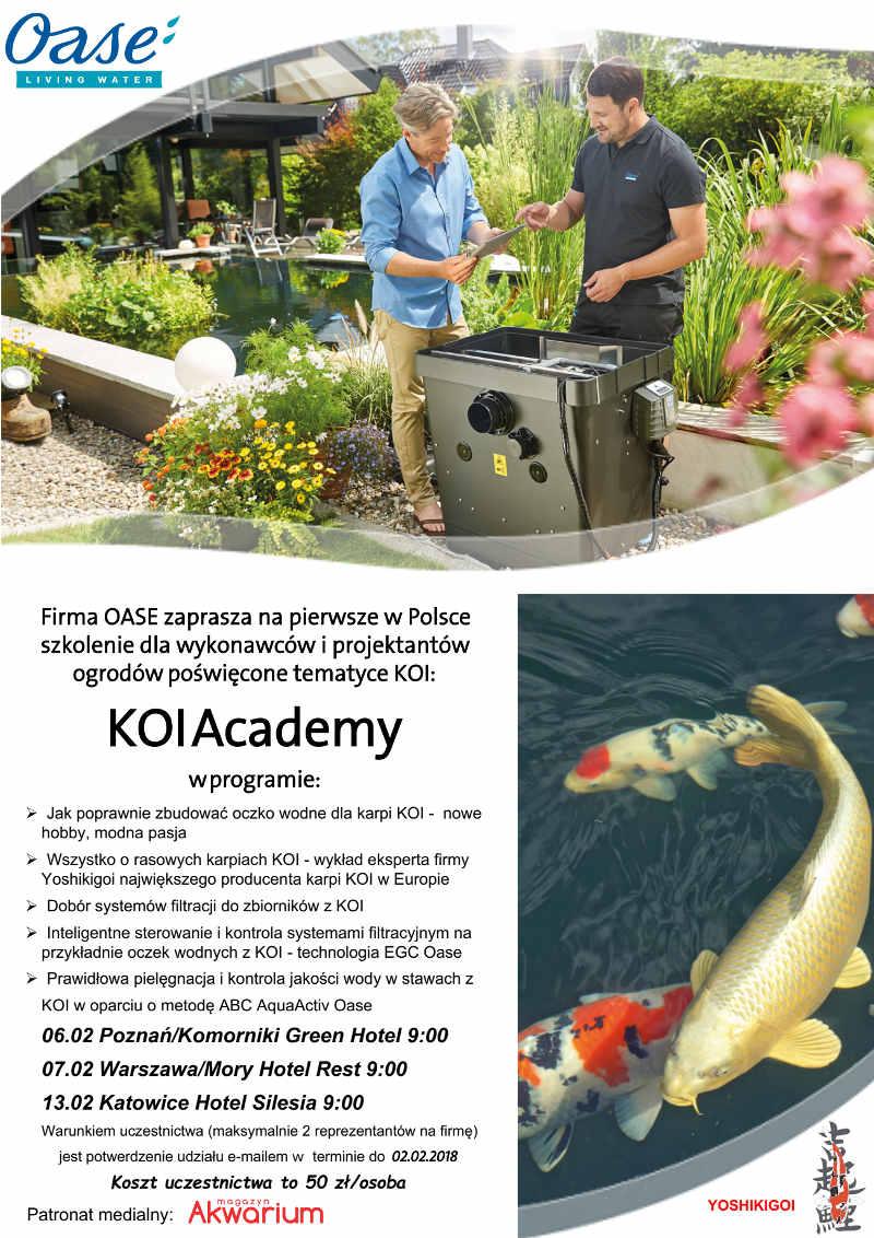 szkolenie Oase Polska i Yoshikigoi w ramach KOI Academy profesjonalne eksperckie spotkanie liderów branży w Europie.